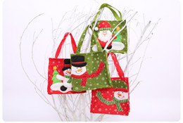 $enCountryForm.capitalKeyWord UK - Festive Christmas Gift Bags Santa Snowman Drawstring Candy Bag High-end Christmas Hangings Classic Kid's Xmas Gift Candy Bags