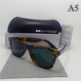 Sun Glasses Leopard NZ - High Quality Men Women Sunglasses UV400 52MM Mixed Vintage Sun Glasses Leopard Mirror Brand Designer Fashion Eyewear Protecton With Box Case