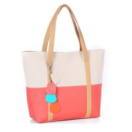 Multi Color Ladies Handbags Australia - Sweet Blend Candy Color New Fashion Women Leather Handbags Shoulder Bag Lady Casual Totes Sac A Main Marques Bolsos Mujer 803bag