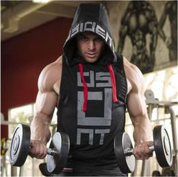$enCountryForm.capitalKeyWord Australia - New Productsfitness Men Bodybuilding Cotton Sleeveless Top Solid Stringer Hoodie Tank Top Summer Mens Hooded Shirts Cotton