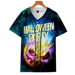 9cef3e0419b82 Halloween Pumpkin 3D Printed Baseball T-shirts Men Women Casual Short  Sleeve T-shirts Kpop Goth Harajuku Baseball Tee