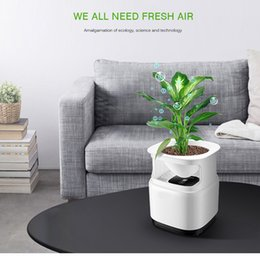 home purifier ionizer 2018 - Portable Room Ozone Mi Air Purifier for Home Air Cleaner Sterilizer Flowerpot Anion Ionizer Generator Disinfection Bacte