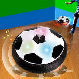 $enCountryForm.capitalKeyWord Australia - Creative Electric Suspension Soccer LED Air Cushion Football Light Up Toy Kids Boy Funny Indoor Play Game Toy For Birthday Gift