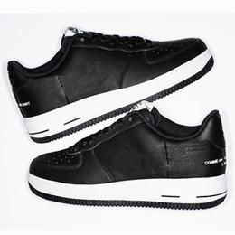 CDG 1 Низкий Supre Des Gargons рубашка скейтбординг обувь Мужская женская мода спортивные кроссовки черный белый тренеры высокое качество на Распродаже