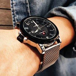 $enCountryForm.capitalKeyWord Australia - NAVIFORCE Men's Quartz Wrist Watch Luxury Top Brand Sports Watches Men Stainless Steel Waterproof Clock Male Relogio Masculino
