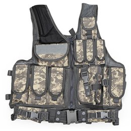 tactical vests military 2019 - Outlife Tactical Vest Men Military Tactical Vest Camouflage Vest Body Armor Molle Outdoor Equipment Jungle 5 Color cheap