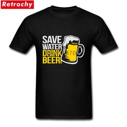 unique flash 2019 - Urban Fashion Save Water Drink Beer Tee Shirts Mens Unique Short Sleeve O Neck Tee Shirts cheap unique flash