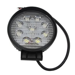 Chinese  27W LED Work Light 12V IP67 Spot Flood Fog Light Off Road ATV Tractor Train Bus Boat Floodlight ATV UTV Work manufacturers