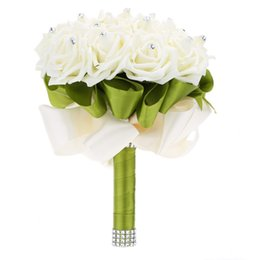 Luxury hand bouquet australia new featured luxury hand bouquet wedding decoration supplies ivory rose luxury crystal salable product for bride bouquet with artificial rhinestone and 16 hand made diamond junglespirit Gallery