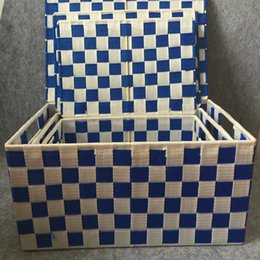 Used Toys Wholesale Australia - multipurpose plastic pp rattan woven basket,High quanlity Plastic PP small rectangular woven storage basket,used for sundries,food or toy