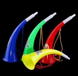 horn toys 2019 - 2018 hot sales Holiday party toys Plastic Bending angle horn Horns horn Sports meeting Come on Prop Football trumpet che