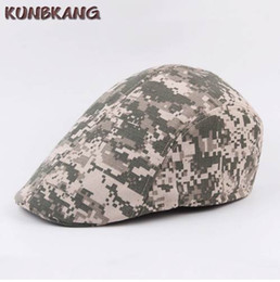$enCountryForm.capitalKeyWord NZ - New Fashion Camouflage Beret Cap Hat Men Women Outdoor Sports Visor Sun Hat Canvas Vintage Military Army Flat Berets Caps Gorras
