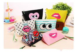 Color Coin NZ - New Fashion Waterproof makeup bag New Fashion printing zipper Coin Purse Women Wallet Burse Mix Color High Quality Free Shipping