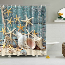 Shower bath curtainS online shopping - 180 cm Bath Curtains Waterproof the Underwater World Beach Starfish Shells African Woman Bathroom Shower Curtain Hot Sale
