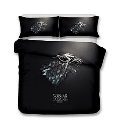 Machines houses online shopping - HBO Song of Ice and Fire Game of Thrones D Printed Bedding Sets House Stark Wolf Duvet Cover