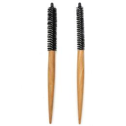 $enCountryForm.capitalKeyWord UK - Slim Wood Handle Hairdressing Brushes Small Curling Short Hair Brush Mini Round Comb For Hair Styling