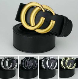 Chinese  In stock 2018 hot sales best quality fashion woman and man belts famous design luxury brand letter buckle belts 105cm-125cm business belt manufacturers