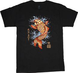 Tall Tee Men Canada - Big man shirt koi fish decal tee men's plus size big and tall 5X 6X 7X 10X