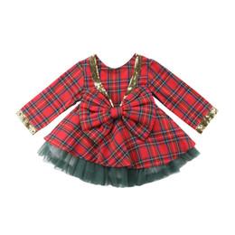 $enCountryForm.capitalKeyWord Australia - Christmas Princess Dress Kids Baby Girls Long Sleeve Dress Sequins Bow Knot Lace Tutu Dresses Children Dresses Xmas Clothes 1-6T
