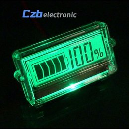 China 12V LCD car Acid Lead Lithium Battery Capacity Indicator Digital Voltmeter Voltage Tester suppliers