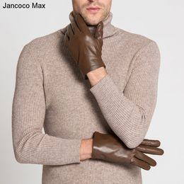 $enCountryForm.capitalKeyWord Australia - Mittens Gloves For Mens Max Black Brown New Genuine Sheepskin Leather Gloves Winter Warm New Brand Driving Mittens For Mens