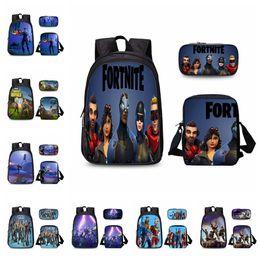 c67b11851694 25 colors 3 pcs set Game Fortnite Printing Backpacks With Pencil Case School  Bag Boys Girls Bookbag Fortnite Print Shoulders bag MMA381