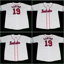 Wholesale 19 Castro Men BARBUDOS TEAM CUBA JERSEY BUTTON DOWN SEWN All Stitched Stitch Sewn High Quality Jersey