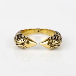 c1de0846f908 dongsheng Anillo antiguo vikingo para hombres Anillos dragón ajustable Vikingos  nórdicos Joyas de mitología -25