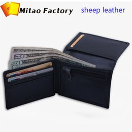 simple men bags 2019 - 2017 New Fashion Simple Bellroy Design Black Color Sheep Leather Card holder Wallet With Coin Bag Pocket Purse discount