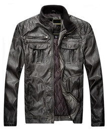 $enCountryForm.capitalKeyWord Australia - 2018 Men's Winter New Motorcycle Skin Plus Cotton Casual Loose Version Of The Distressed Leather Jacket