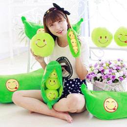 $enCountryForm.capitalKeyWord Australia - 25 CM Attractive Lovely Simulation Stuffed Plush Kawaii Cute Pea Plant Pea-Shaped Pillow Toys For Children Girlfriend Kids Gift
