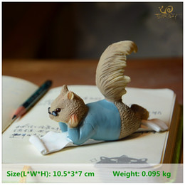Discount animals ceramics - gift gifts Everyday Collection Resin Squirrel Miniature Animal Figurines Fairy Garden Decoration Craft Home Accessories