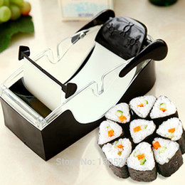 Sushi Cutter Australia - New Kitchen Perfect Magic Roll Easy Sushi Maker Cutter Roller DIY Kitchen Perfect Magic Onigiri Roll Tool Sushi Roller Accessory