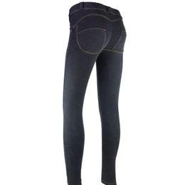 d1cccda9d89 Fashion New S-3XL 4 Colors Elastic Plus Size Jeans for Women Black Jeans  Trousers for Women Slim Sexy Denim Pencil Jeans