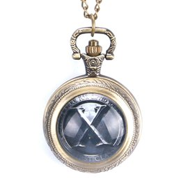 Chinese  Marvel Heroes Young People Accessory X-Men Necklace Gift Quartz Pocket Watch for Men Women manufacturers