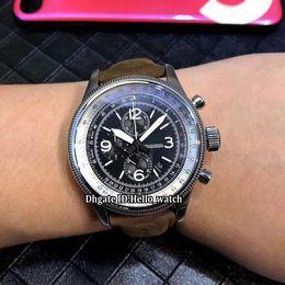 c15102011a7e Nuevo estilo Pro Pilot 01 675 7648 4264-07 5 23 77 Dial negro Cronógrafo de  cuarzo Reloj para hombre Correa de cuero marrón Reloj de caballero deportivo