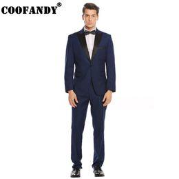 Tux Suits NZ - Single-breasted Business Suits Suit Office Notch-lapel Slim Men Jacket Pants Long and Tux Fit 2-piece Sleeve Office