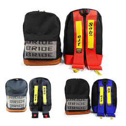 EDBETOS Auto Racing sac mariée Sangles en tissu style école Car toile sac à dos Bride Keycase JDM Sabelts sangles sac à dos
