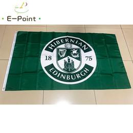 Bandiera della Scozia Hibernian FC 3 * 5ft (90 cm * 150 cm) Poliestere SPL bandiera Banner decorazione volare casa giardino bandiera Regali festivi