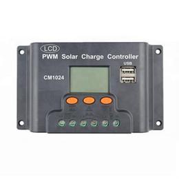 Solar Panels 12 Australia - PWM 10 20 30A Dual USB Solar Panel Battery Regulator Charge Controller 12 24V LCD Digital Display Auto Memory Function