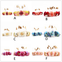 Flowers Party Decorations Australia - Mother And Daughter Headband INS Party hairbands Headwear Parent-child head with feather flower headdress Party Decoration GGA1050