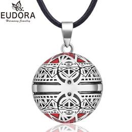 $enCountryForm.capitalKeyWord Australia - EUDORA Harmony Ball Necklace Vintage Chime Bola Pendant for Women Fashion Jewelry Gift Mexican Pregnancy Ball 45'' Chain