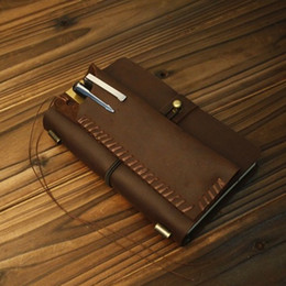 ONLVAN Vintage Style Genuine Leather Handmade Notebooks Office Accessories  Leather Dairy Notebook 2017 Travel Notebook
