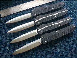 Nemesis kNives online shopping - Cypher D A Custom Nemesis knives D2 steel Satin Drop point Dagger Plain aluminum handle Pocket knife with nylon sheah