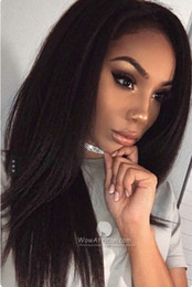 HigH ligHted Human Hair online shopping - 7A Lace Frontal Wig High Density Brazilian Yaki Kinky Straight Lace Human Hair Wigs With Baby Hair Lace Frontal Wig