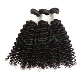 Discount wavy curl human hair - VIYA Brazilian Virgin Hair Spanish Curl 4 Bundles Natural Black Unprocessed Real Human Hair Weave Full Head Set Wavy Hai