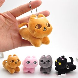 Kitty charms online shopping - Lovely Kitty Small pendant charm Plush toys Backpack hanger grab machine high quality Doll Active gift rr W