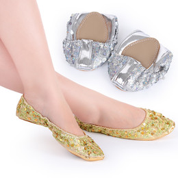 $enCountryForm.capitalKeyWord NZ - Belly dance shoes non-slip wear sequins wafer gold, silver show shoes dance practice shoes