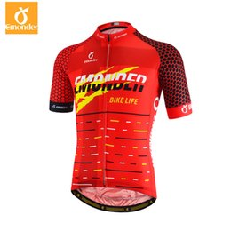 e9db3ed1e EMONDER Pro Team Men s Cycling Jersey Breathable Short Sleeve Summer Bicycle  Bike Jersey Shirt Sport Wear Skinsuit Red Color