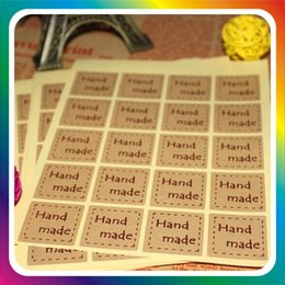 Diy plant labels online shopping - Handmade Kraft Paper Sticker Outer Box Retro Paster Vintage DIY Label Stickers For Gift High Quality jh Ww